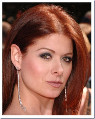 red hair with blonde underneath. Debra Messing red, from a